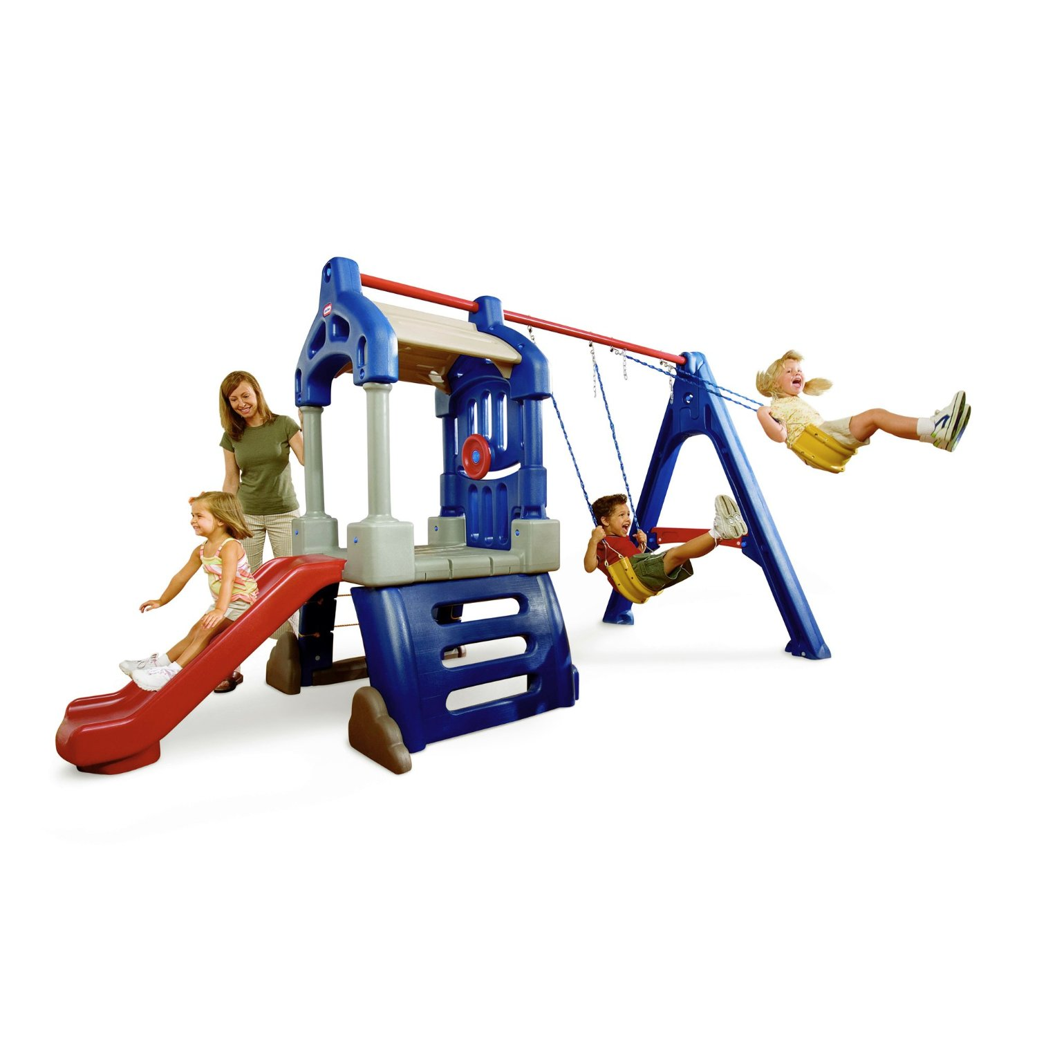 Don t buy the little tikes clubhouse swing set before for Little tikes outdoor playset